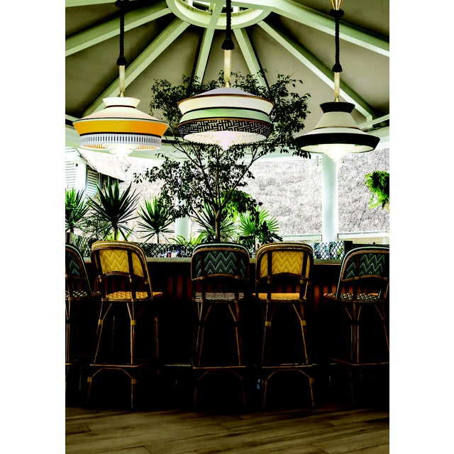 Contemporary Contardi Calypso Martinique XL Outdoor Pendant Light in Moss Green and Yellow For Sale - Image 3 of 5
