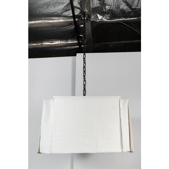 Linen Modern Draped Linen Chandelier by Paul Marra For Sale - Image 7 of 9