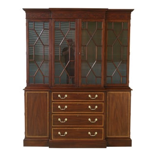 Henkel Harris Model 2365 Mahogany Breakfront For Sale
