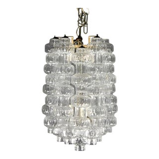 1960's Blown Murano Italian Glass Chandelier For Sale