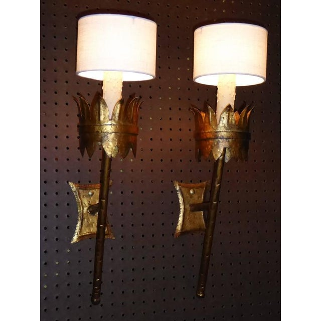 torch sconce crafted outdoor lighting landmark artisan