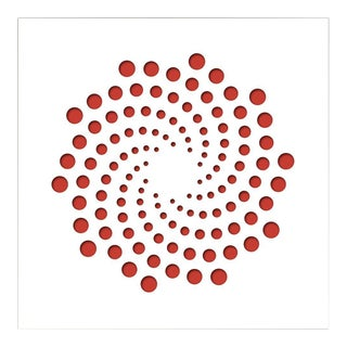 Chuck Krause Spirals (Red), original three dimensional geometric design wall relief 2020 For Sale