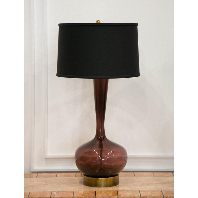 Mid-Century Modern Handblown Murano Lamps, a Pair For Sale - Image 3 of 8