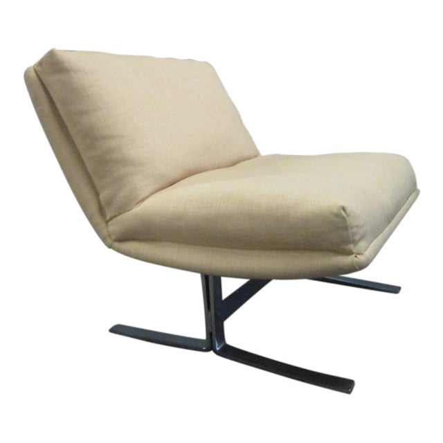 Chrome Lounge Chair by Design Institute of America For Sale