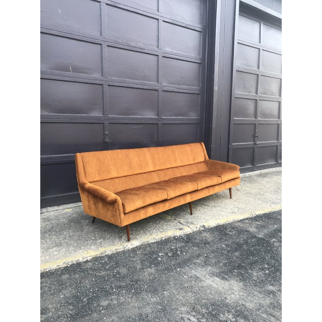 Mid-Century Modern Reupholstered! Early Milo Baughman Thayer Coggin Four Seat Sofa For Sale - Image 3 of 13