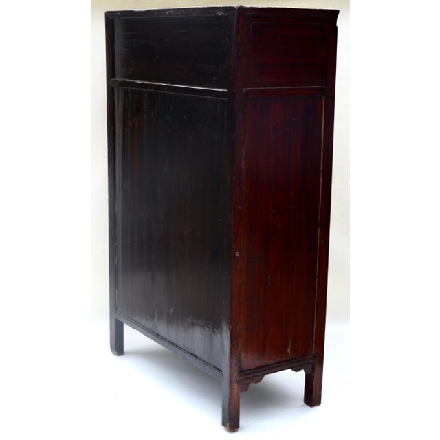 Metal Exquisite Antique Chinese Qing Dynasty Cabinet For Sale - Image 7 of 12