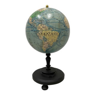 "Vintage French Girard, Barrere & Thomas 10"" Globe Terrestre C.1940s For Sale"
