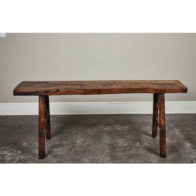 Asian 18th C. Chinese Poplar Elm Altar Table For Sale - Image 3 of 8