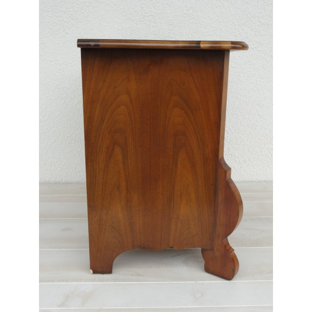Mid 20th Century 20th Century Traditional Baker Furniture Mahogany Nightstand For Sale - Image 5 of 13