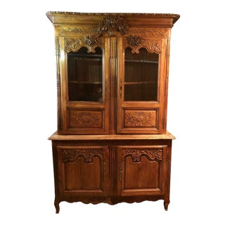 French Normandy Buffet a Deux Corps For Sale