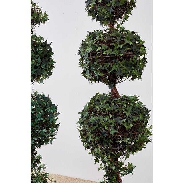 Pair of Neoclassical Faux Ivy Topiary Trees For Sale - Image 12 of 13