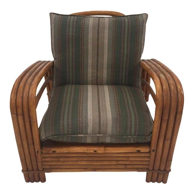 Mid-Century J.B. Van Sciver Co Lounge Rattan Chair For Sale