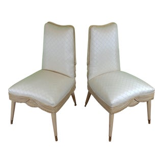 1930's French Side Chairs- A Pair For Sale