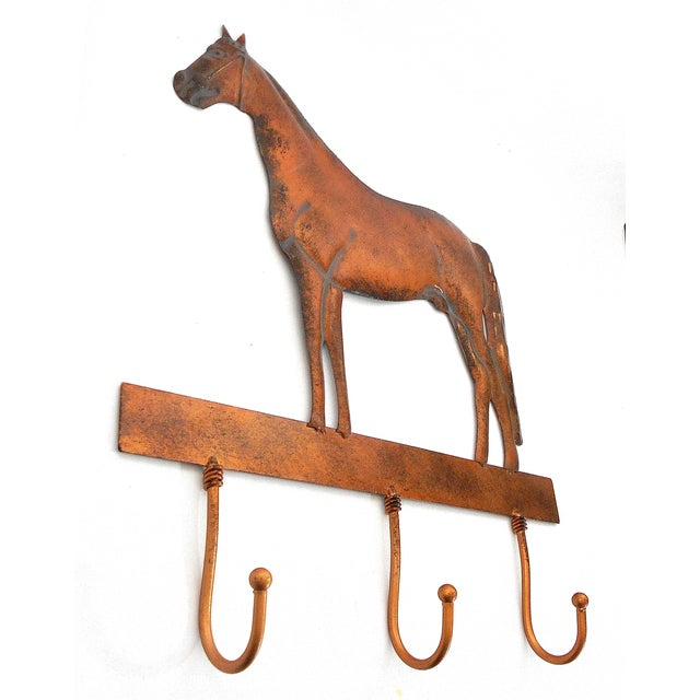 Copper Horse Wall Mounted Coat Hooks - Image 4 of 6