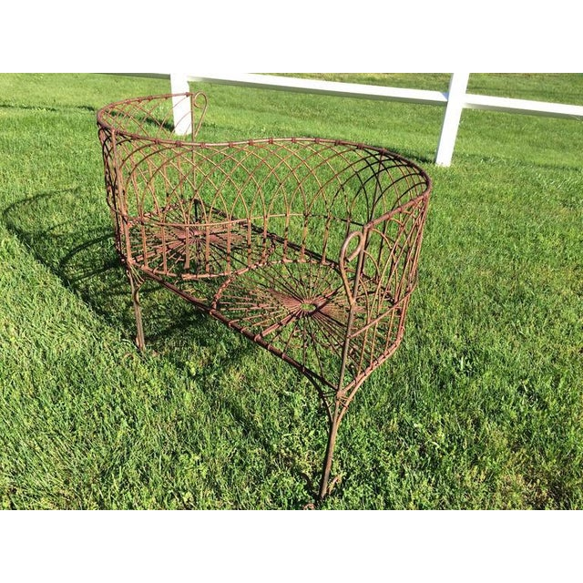 Country Vintage Iron Garden Tete-A-Tete For Sale - Image 3 of 9