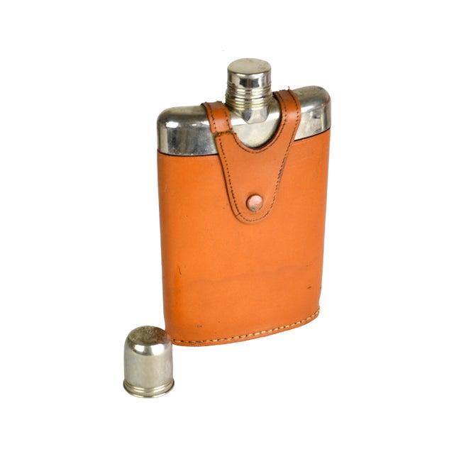 Vintage Leather Wrap Liquor Flask - Image 3 of 3