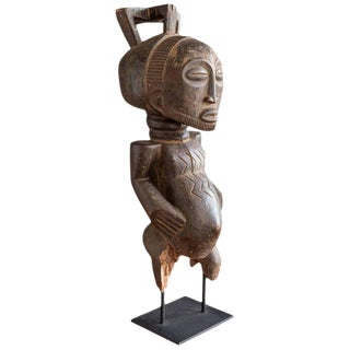 Hemba Carved Wood Male Ancestor Figure For Sale