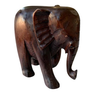 Hand Carved Elephant Statue, Figurine For Sale
