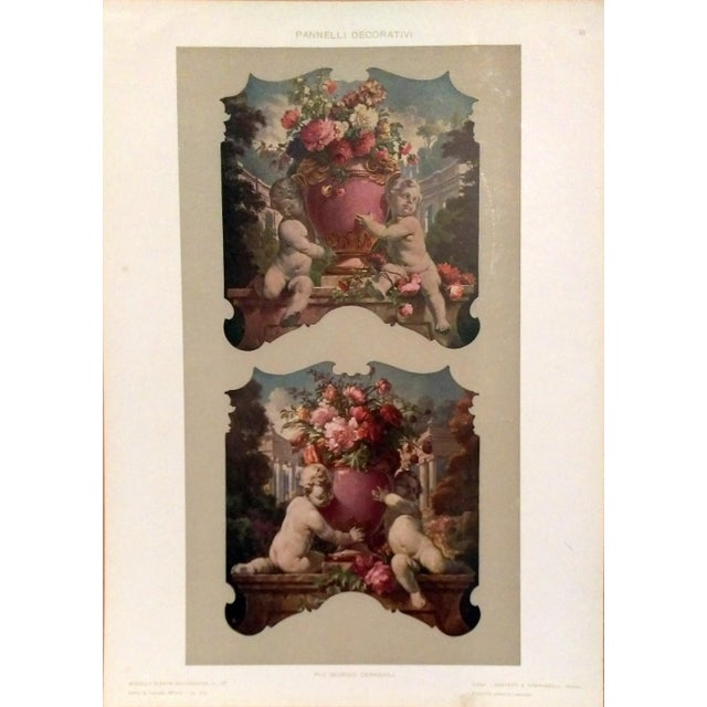 Decorative Panel Lithograph by G. Ceragioli - Image 1 of 5