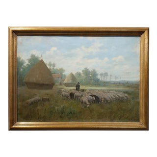 Martin Couland -1920s French Pastoral Landscape -Oil Painting Original French Impressionist -Oil painting on canvas For Sale