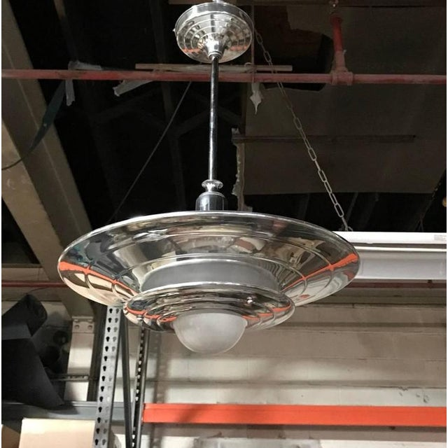 French Mid-Century Modernist Ceiling Light or Chandelier - Image 2 of 4