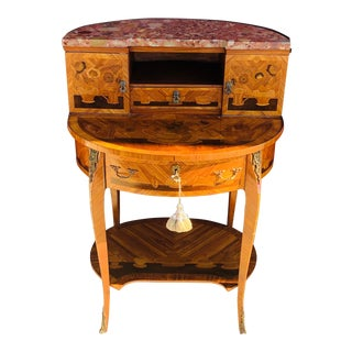 Antique Italian Inlayed Writing Desk For Sale