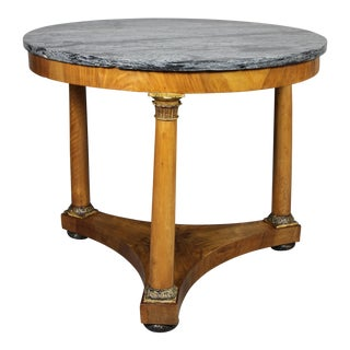 Italian Neoclassic Walnut and Giltwood Centre Table For Sale