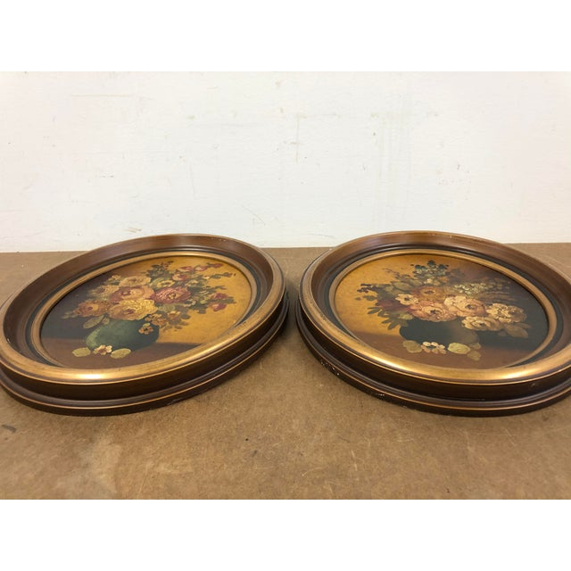 Vintage Wood Oval Picture Frames A Pair Chairish