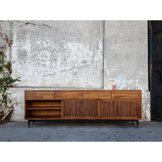 Mid-Century Modern Mid Century Modern Style Eclectic Credenza For Sale - Image 3 of 7