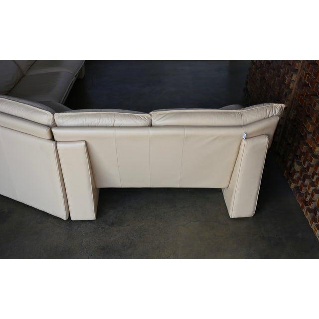 Nicoletti Salotti Modern Leather Sectional Sofa Circa 1985 For Sale - Image 9 of 13