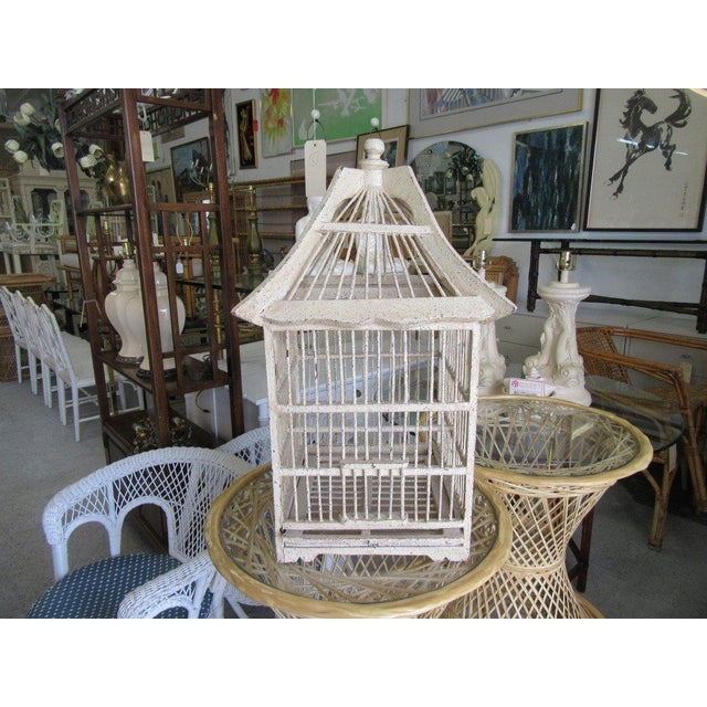 Vintage Painted Bird Cage - Image 6 of 7