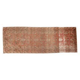 """Vintage Distressed Oushak Rug Runner - 3'9"""" X 10'5"""" For Sale"""
