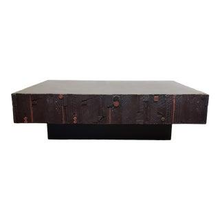 "Mid Century Modern Lane Brutalist ""Pueblo"" Coffee Table For Sale"