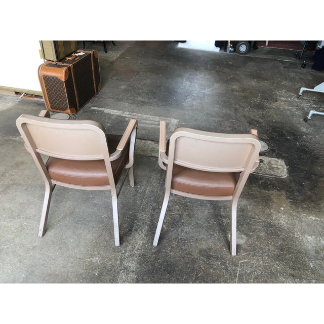 Metal Steelcase Mid Century Industrial Arm Chairs - a Pair For Sale - Image 7 of 9