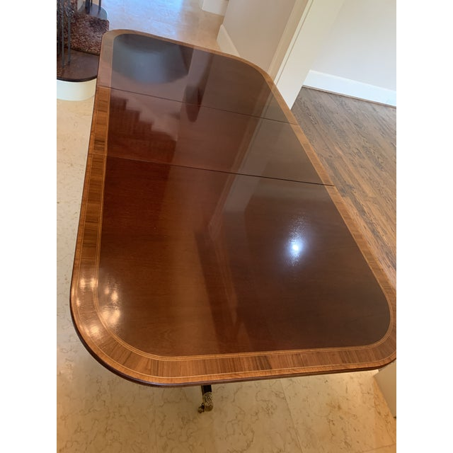 Traditional Federal Design Council Dining Table For Sale - Image 3 of 4