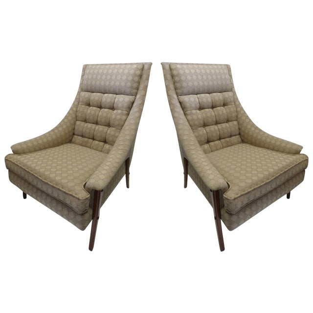 Mid-Century Adrian Pearsall Style Chairs - A Pair - Image 1 of 8