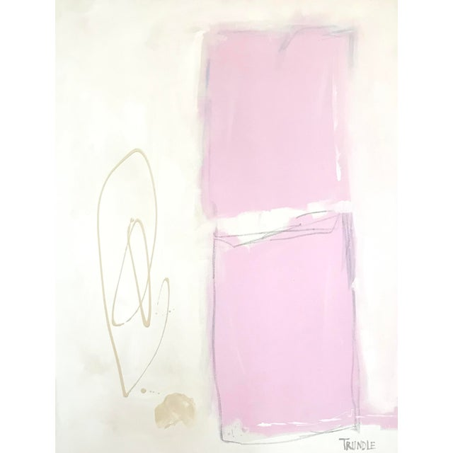 2010s Shapes in Pink Contemporary Painting For Sale - Image 5 of 7