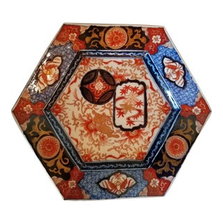 Antique 1890 Imari Porcelain Platter For Sale