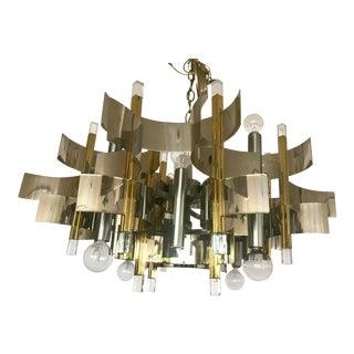 Gaetano Sciolari Mid-Century Modern Chandelier, Italy For Sale