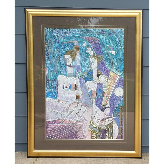"""Asian """"Lot's Daughters"""" by Adrian Wong Shue Serigraph, 1988 For Sale - Image 3 of 11"""