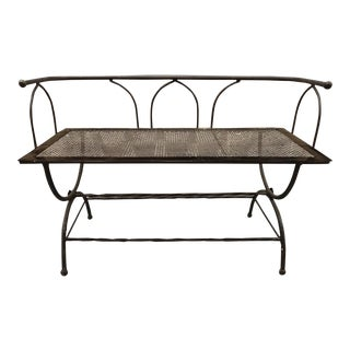 Vintage Iron Gothic Style Bench For Sale