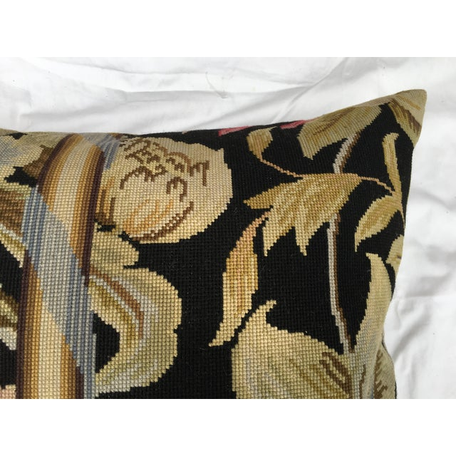 French Needlepoint Aubusson Pillow For Sale - Image 4 of 6