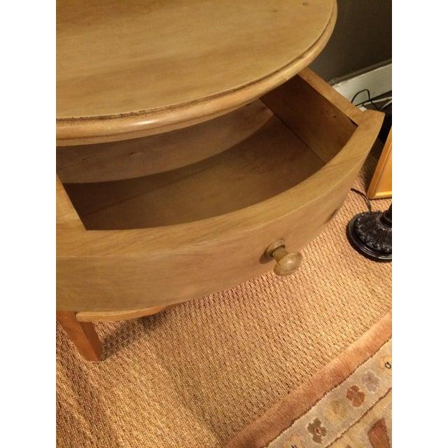 Restoration Hardware Console Table: Restoration Hardware Pine Demilune Console Table