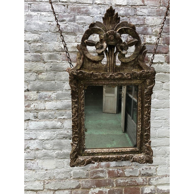 Louis XIV Mirror, Carved Gilt Wood Provincial For Sale - Image 6 of 11
