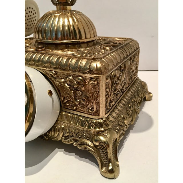 Brass Vintage French Style Brass Telephone For Sale - Image 7 of 7