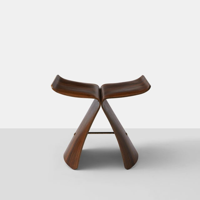 Mid-Century Modern Sori Yanagi Butterfly Stool For Sale - Image 3 of 8