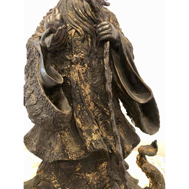 Copper 18th-19th Century Figure One of the Three Gods of Good Fortune For Sale - Image 8 of 13