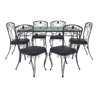 Wrought Iron Patio Set in the Style of Salterini