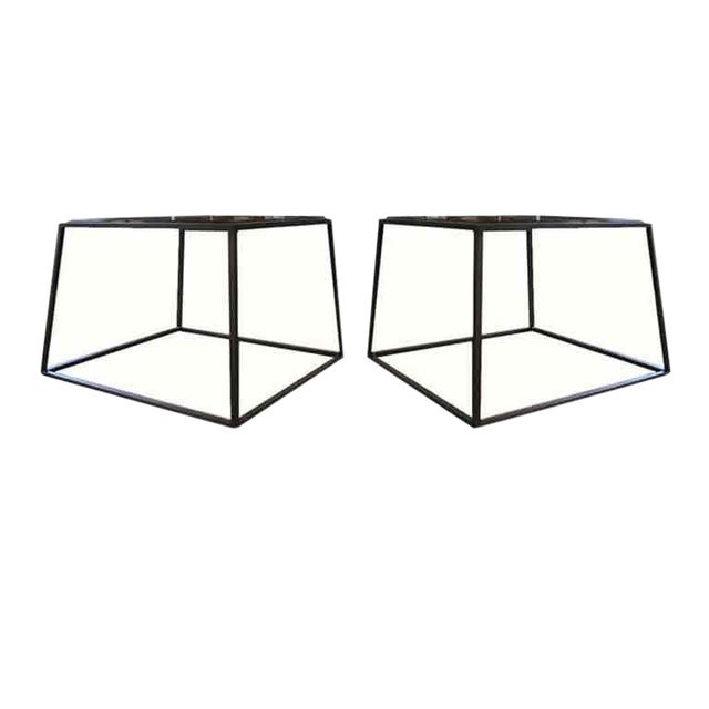Customizable Richard Glass Top Table - Image 1 of 10