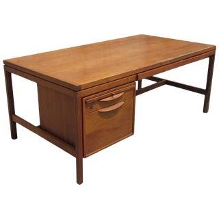 Vintage Mid-Century Modern Walnut Jens Risom Desk For Sale
